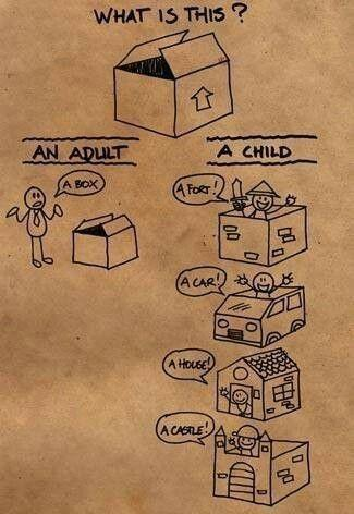 what's is it ? an adult : a box ! a child gives a lot of different ...